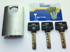 Mul-t-lock G47 Padlock MTL Classic Cylinder - 3 keys + security card (real pic)