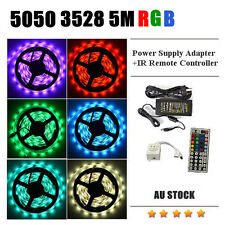 5050 5M RGB SMD Light LED Strip 44Key IR Remote Controller Power Supply Adapter