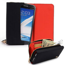 Kroo Signature Wristlet Wallet Case Handbag fits Sony Mobile Cell Phones