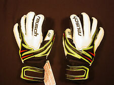 New Reusch Soccer Goalie Gloves Argos D1 OrthoTec FingerStays Junior 3372600 INV