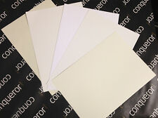 CONQUEROR 300GSM A5  CARD CHOICE OF COLOURS / DIY WEDDING STATIONERY / FREE P+P