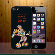 Walt disney Quote If U Dream It U Can Do It Mickey Mouse Hard Phone Case Cover