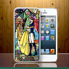 Beauty And The Beast Disney Cartoon Stained Glass Style Hard Phone Case Cover