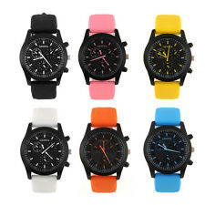 New Cool Modern Mens Luxury Dial Sports Watch Rubber Wristwatch 6Colors