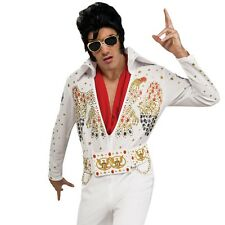 Mens Elvis Presley Costume 1950s Rock N Roll Music King Celebrity Party Outfit