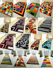 NEW MODERN BRIGHT COLORFUL CARVED QUALITY LONG RUNNER RUGS CHEAP SOFT CARPET