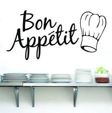 BON APPETIT Quote Decal WALL STICKER Home Decor Art Words Letters Kitchen SQ66