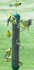NEW! 17in. SPIRAL FINCH TUBE BIRD FEEDER! CHOOSE GREEN OR YELLOW!