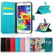 Book Flip Leather Wallet Case Cover For SAMSUNG Galaxy S5 Free Screen Protector