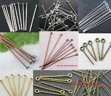 Wholesale3 100pcs Silver Golden Head/Eye/Ball Pins Findings 21 Gauge
