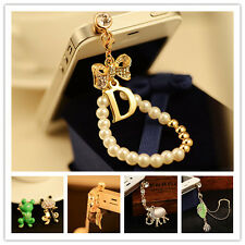 Anti Dust Earphone Jack Charm Plug Cap For Phone Android 3.5mm Rhinestone Animal