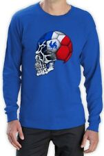 France Flag World Cup Skull Long Sleeve T-Shirt football mondial soccer team