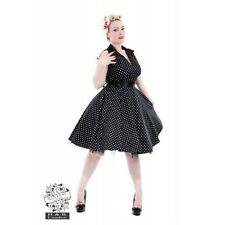 New Hearts & Roses Black and White Dotty Dress Retro Rockabilly Pin up SALE