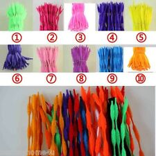 "100pcs Bump Bumpy Chenille Stems/ Pipe Cleaners 12"" Long Color Optional Lots diy"