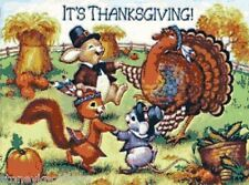 It's Thanksgiving! Critters ~ Counted Cross Stitch Chart Pattern