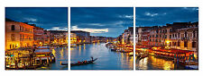 VENICE ready to hang  triptych mounted wall art print/surpassed stretched canvas