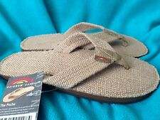 Men's Rainbow sandals flip flops the Poche Burlap S M L XL XXL Natural NEW