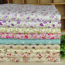 12 Assorted Floral Print Pre-Cut Charm Cotton Quilt Fabric Square or By the Yard