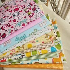 10 Assorted Animal Print Pre-Cut Charm Cotton Quilt Fabric Square or By the Yard