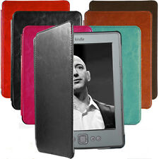 "Hot New Slim Leather Cover Case Hard Shell For Amazon Kindle 4 / 5th 6"" E-book"