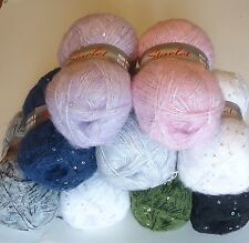 SEQUN KNITTING WOOL LOVELY SPARKLY KNITTING YARN with SEQUINS 100G GREAT PRICE!