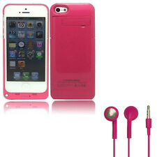 Hot Pink Battery Case for iPhone 5/5S Portable Charger 2200mAh Charging Pack