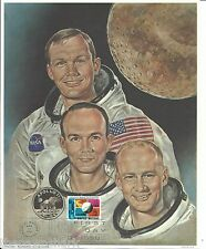 First Day of Issue Stamps. Cover Prints & Lithographs. Kennedy, Apollo 11, Space