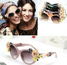 New women travel Drive Sunglasses ceramic flowers individuality fashion glasses