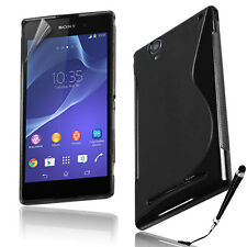 S Curve Gel Cover Case for Sony Xperia T2 Ultra + SP & Stylus