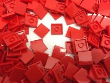 LEGO 3068b - Red Smooth Flat Tile Plate 2x2 - 25 Pieces Or 50 Pieces