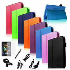 7IN1 Slim Fit Folio Leather Case w Stand Cover for Google Nexus 7 1st Gen Bundle