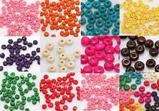 1000pcs Colorful Candy Color Wood Spacer Beads Seed Beads Jewelry Finding 4x3mm
