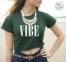 * VIBE Crop Top Tank Summer Fashion Vogue Tumblr OOTD Hype Good Vibes Swag Dope*