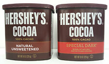 HERSHEY'S Cocoa 100% Natural Unsweetened or Sweet Dark Chocolate Powder Pick One