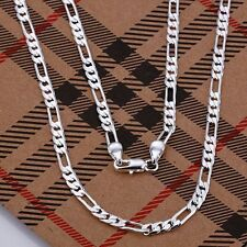 Free Shipping! Wholesale New Fashion 4mm 925Sterling Solid Silver Necklace PN020