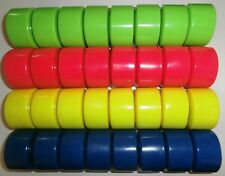 Set of 8 Transmissions Roller Quad Skate Wheels - New - 4 Colours Available