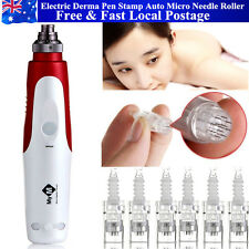 Electric Derma Pen Stamp Auto Micro Needle Roller Anti Aging Skin Beauty Wand
