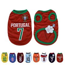 2014 World Cup Soccer Football Jersey Shirt Tee Pet Cat Puppy Small Dog Clothes
