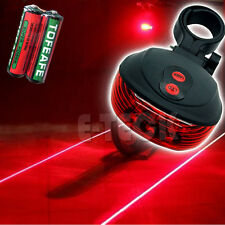 Laser Beam Waterproof LED Bike Bicycle Cycle Rear Back Tail Lights Flash Light