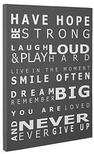 Have Hope Grey Typography Canvas Print Wall Art Quote Picture a1 a2