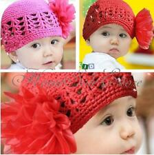 New Sweet Baby Flower Crochet Beanie Knitted Cap Hat For Newborn Baby Toddlers