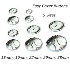 Metal Self Cover Buttons 15mm 19mm 22mm 29mm 38mm -  Button Press Tool