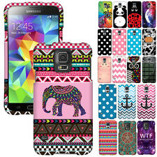 For Samsung Galaxy S5 i9600 G900 Phone Snap On Polka Dots Hard Shield Case Cover