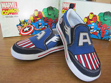 Captain America Stride Rite Slip on Child Sneakers Marvel Comics Brand New