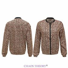 Ladies Womens Brave Soul Waterproof Leopard Print Light Weight Summer Jacket