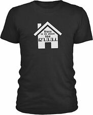 No Place Like Home (White) Mens Combed Cotton T-Shirt