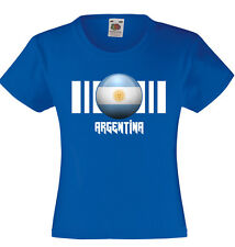 Unisex Kids Argentina Flag T-Shirt On Fruit of the Loom VWeight tshirt-12 Colors
