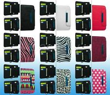FOR LG OPTIMUS L70 DESIGN LEATHER WALLET POUCH PHONE CASE COVER W/ LANYARD