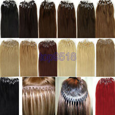 New 16 Inch 0.4g/s 100s Loop/Micro Ring Remy Human Hair Extensions More Color