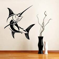 MARLIN FISH Decal WALL Art STICKER Home ALL COLORS SIZES Saltwater Fishing ST68